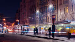 Rush hour in Budapest (BenedekM) Tags: hungarian hunagry budapest city lights lamps streetphotgraphy street nikon nikond3200 d3200 nikkor50mmf18g 50mmf18g architecture buildings old centre capital citscape