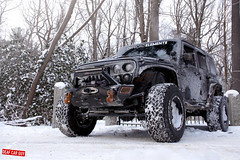 Jeep Wrangler (Brandon Bailey Design/Photography) Tags: jeep wrangler turbo off road snow suv vehicle auto car automobile automotive fuel wheels winter woods wood tree forest snowy nikon photo photography photographer