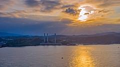 協和電廠 (Ali shih) Tags: 協和電廠 空拍 aerialphoto sunset 日落 台灣 基隆 ocean marvic2pro
