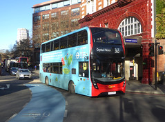 GAL EH71 - YX66WHN - ELEPHANT & CASTLE - THU 17TH JAN 2019 (Bexleybus) Tags: ec elephant and castle underground station london road newington causeway goahead go ahead adl dennis enviro 400 mmc tfl route hybrid 363 eh71 yx66whn