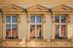 Three Windows (freyavev) Tags: belgrade beograd serbia srbija kraljapetra kraljpetarprvi windows facade vsco canon canon700d urban urbandetails yellow building oldtown reflections