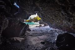 Inside Out (Bob.Z) Tags: waianapanapastatepark hawaii hi maui usa unitedstates pacific ocean cave seaside seashore coastline waves blacksand beach oceancave lava