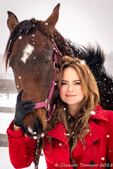 Emily 01 (Claude Tomaro) Tags: yellow re emily chartrand ottawa ontario canada snow snowing ranch horse claude tomaro fence