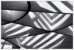 Licht und Schatten – light and shadow (frodul) Tags: abstrakt architektur detail diagonale gebäude gestaltung innenansicht konstruktion kurve linie monochrom münchen pinakothek schatten bayern deutschland sw bw einfarbig