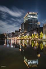 Tokyo city towers at night. (PiTiS ¬~) Tags: city ciudad night noche luces lights reflections reflejos tokyo tokio japon japan nocturna longexpo longexposure largaexposicion