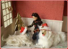 9.advent day - advent calendar 2018 with dolls (Mary (Mária)) Tags: barbie handmade madetomove doll christmas christmastree dog diorama indoor dollphotography santaclaus toys winter kaylalea neko mattel marykorcek