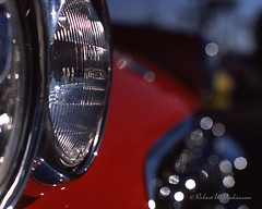Corvette Headlights & Bokeh on Film (eoscatchlight) Tags: corvette chevycorvette chevroletcorvette chevrolet chevy red bokeh headlight classiccar film analog fujichromeprovia fujichrome olympusom2 om2 zuiko50mmf14