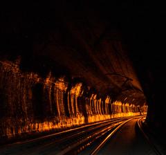Orange Glow (nocturnal.visions) Tags: live rail tunnel underground exploring urbex nsw australia railways explore everything tunnels trespassing canon 70d train tracks trains hiking night brick