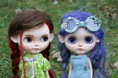 Cloudy Day Photo Shoot (Chassy Cat) Tags: rendezvous chouchou weepingbeauty alpaca reroot scalp doll custom customized blythe sbl chassycat licca ears goggles simplyguava