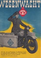 Wegenwacht-lid_oktober_1946 8 (Wouter Duijndam) Tags: oktober october 1946 anwb wegenwacht folder promotie kleuren jaren veertig 40 46 harleydavidson wla wlc hollandia zijspan beginjaren mooie