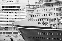 Cruise Ships Up Close (MIKOFOX ⌘ The Purge IS Wrong!) Tags: canada ship fujifilmxt2 summer xt2 cruise vancouver learnfromexif july monochrome provia bw blackandwhite cruiseship mikofox britishcolumbia showyourexif xf18135mmf3556rlmoiswr