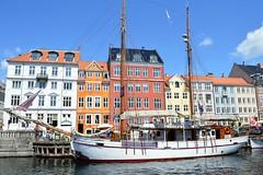 Copenhagen, Denmark (Seventh Heaven Photography *) Tags: ny havn copenhagen denmark ship boat yacht buildings houses architecture water blue sky nikon d3200 cloud