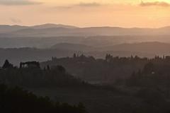 Landscape in Tuscany (hbothmann) Tags: toskana toscana toskanalandschaft tuscany sunset sonnenuntergang abendstimmung tramonto italien italy italia hendrickbothmann paesaggio