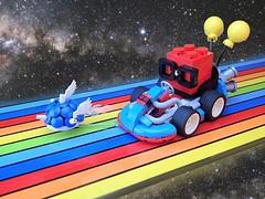 Nerdliokart (Greeble_Scum) Tags: lego moc mario kart nerdly nerdvember car rainbow road