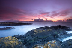 Colours at Sunset (PeterYoung1.) Tags: atmospheric beautiful colours clouds highlights landscape light nature ocean peteryoung1 rocks pink purple scenic scotland seascape scottish sea sunset uk water
