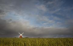 goodbye blue skies (Emma Varley) Tags: halnaker windmill westsussex field crop landscape cloud bluesky