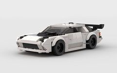WIP - Mazda FC of Initial D 5th Stage (KMP MOCs) Tags: ryosuke ryousuke car wip cars initiald mazda fc coupe supercar sportscar gt anime drift lego moc projectd downhill racing racer race rx7