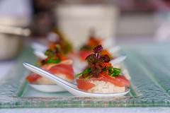 Freshly Made Sushi Spoons (edzwa) Tags: sydney newsouthwales australia au food sushi fresh bokeh bokehlicious sony