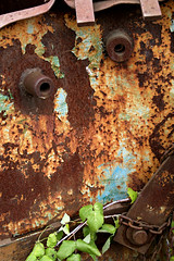 Silenced (Doris Burfind) Tags: portdover shipyard rust blueandrust face metal decay weathered abandoned
