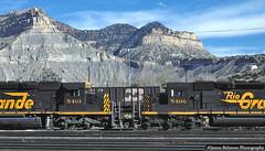 At The Foot of the Book Cliffs (jamesbelmont) Tags: railroad railway train locomotive helper utah riogrande drgw tunnelmotor bookcliffs emd sd40t2