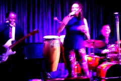 Bar band (thomasgorman1) Tags: lounge casino band woman singer entertainment gig concert musicians guitar drums colors looking streetphotos drummer guitarist fujifilm music psychedelic