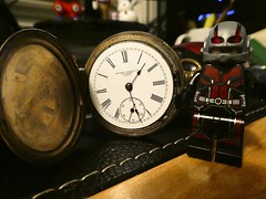 2019-01-11 Late again!!! (Mary Wardell) Tags: watch time pocketwatch vintage lego minifig antman ps toys