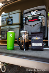 Good Coffee is a Must! (kumagai.atsushi) Tags: philz coffee french press frenchpress overland camping offroad adventure caffeine engel esee baofeng hydroflask philteredsoul