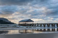 Laule'a  DSC_9507 (BlueberryAsh) Tags: hanalei hanaleibay kauai popui sunset pier water releflection ocean mountains seascape cloudsstormssunsetssunrises clouds nikond750 nikon24120 hawaii