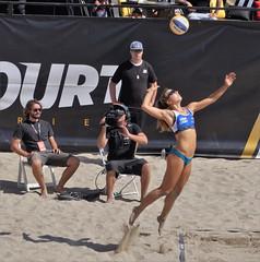 THE AVP... (sandy flea) Tags: girl bikini avp volleyball