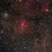 M52 and Buble nebula