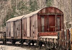 Auf dem Abstellgleis (simson60) Tags: zug train hdr tiefenschärfe winter schweden alt lostplace