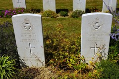 W.A. Millar & F.R. Duxbury, Royal Air Force, War Grave, 1941, 1943, Bayeux (PaulHP) Tags: ww2 world war 2 headstone grave france bayeux military cemetery british normandy sergeant pilot wa william alexander millar service number 748196 83 sqdn squadron raf rafvr royal air force volunteer reserve david mary j belfast northern ireland irish flight fr frederick ronald duxbury 1058490 6th march 1943 542 john leonard booth florence l ivy monica south ruislip middlesex cwgc battle