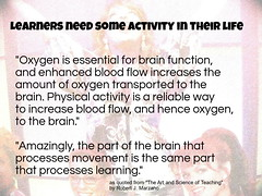 Educational Postcard: Learners need activity in their life (Ken Whytock) Tags: oxygen essential brain function enhanced blood flow physicalactivity processes learning school activity thinking healthy