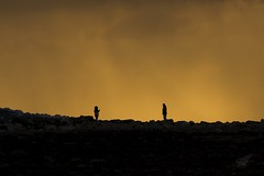 True love (Karl Horsman) Tags: silhouette beachyhead atmospheric atmosphere stones sunrise clouds stormyweather eastbourne eastsussex uk canon canonuk 70200mm coastline coastal couples lovers birlinggap nationaltrust sevensisters cliffs