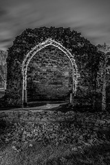 Dudley Priory_M-8859 (timbertree9) Tags: greyscale blackandwhite monochrome mono colour dudley dudleycouncil westmidlands priory sky skyatnight architecture historic ruins eng unitedkingdom central hdr dark darksky stars clouds lighting shadows stone