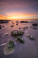 Ault sunset (Yani Dubin) Tags: green purple ault summer sunset twilight nature tamronsp1530mmf28divcusd lightroom photoshop water grey orange color dim landscape magenta picardie baiedesomme colour pink longexposure multipleexposures d850 waterscape lowkey hdr france beach