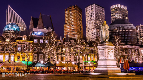 Skyline van Den Haag gezien vanaf Het Plein