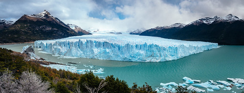 the oncoming glacier