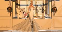 Gracious Beauty (Cheyenne Sadee) Tags: tiffanydesigns wedding gowns portraits flowers sl secondlife fashion maitreya catwa