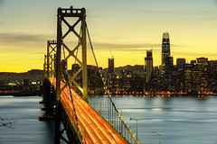 The Bay Lights (Tony Shi Photos) Tags: baybridge sf sanfrancisco san francisco california skyline city