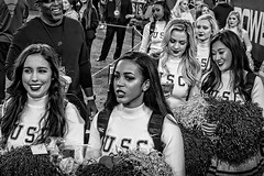 The Big Game (Steve Mitchell Gallery) Tags: street cheerleaders songgirls cheer pompoms biggames usc universityofsoutherncalifornia football ncaa girls women