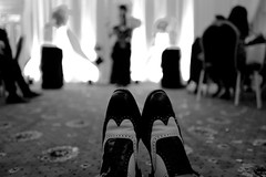 L1070071 (christy.hunter) Tags: black white monochrome shoes wedding event leather sole witness unusual view people leica q hove club performer magician