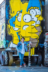 Makoto Murakami (Paulann_Egelhoff) Tags: phoenix az arizona fashion photoshoot outdoors photography art design headshots portraits redrocks papagopark graffiti holeintherock japanese japan rb music mixing singer songwriter recording artist blackhair bluejean desert paulann paulannegelhoff instagram facebook flickr simpsons