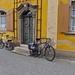 Bikes, windows and a door