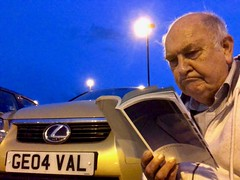 Consulting the manual 203-365 (12-4222) (♔ Georgie R) Tags: carpark crawley sussex werehere wah hereio