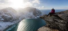 View from Ryten (world.wideweg) Tags: norwegen norway norge lofoten winter snow ice cold northnorway nordnorge arcticcircle ryten mountain hike view
