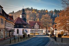 Bergstadt Bad Grund (r.wacknitz) Tags: bergstadt badgrund harz niedersachsen lowersaxony kirche strasse fachwerk herbst autumn aurorahdr himmel