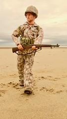Hit The Beach! (Inaction Figure) Tags: usmc marine pacificcampaign ww2 worldwartwo beach m1rifle m1helmet helmetcover camouflage usmarine dragonmodelsltd 12inchactionfigures 16 12inch onesixthscale