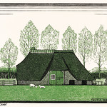 Farmhouse with thatched roof (1919) by Julie de Graag (1877-1924). Original from The Rijksmuseum. Digitally enhanced by rawpixel. thumbnail