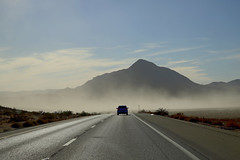 mystic mountain (Farhan Tamim) Tags: smog fog sandstorm california road point mountain explore